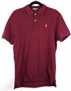 Ralph-Lauren-Rugby-Men-039-s-Medium-Skull-Polo-Shirt-Solid-Red-Short-Sleeve