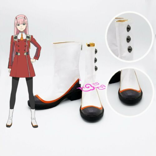 Darling in the Franxx Zero Two Shoes Red Cosplay Boots Costume 02 Higher Gift