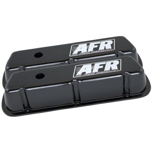 AFR Valve Cover Set 6715; Black Powdercoat Aluminum for Ford 289//302//351W SBF