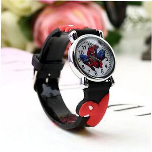Orologi-da-polso-bambini-Spiderman-guinzaglio-in-silicone-Orologi-Wristwatch