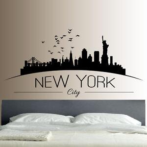 new york profilo adesivo da parete decalcomania salotto camera da ...