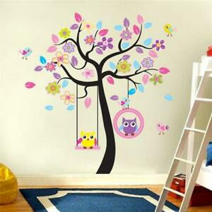 Owl-scroll-Tree-Hot-Wall-Decals-Removable-Stickers-Decors-Art-Nursery-Bedroom