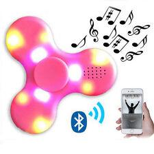 Bluetooth Speaker Hand Spinner $Led Flash Light Tri Fidget Finger EDC Gyro Toys