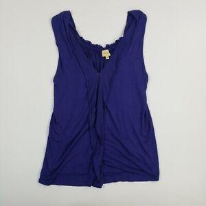 Ella Moss Women's Crop Top Purple Medium Basic Sleeveless Ladies Tank Top Shirt