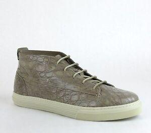 f7484903736  1950 New Authentic Gucci Men Crocodile High-Top Sneaker Tan 342045 ...