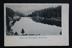 Tarjeta-Postal-Antigua-Alemania-Gruss-Vom-Altenweiher-Munsterthal
