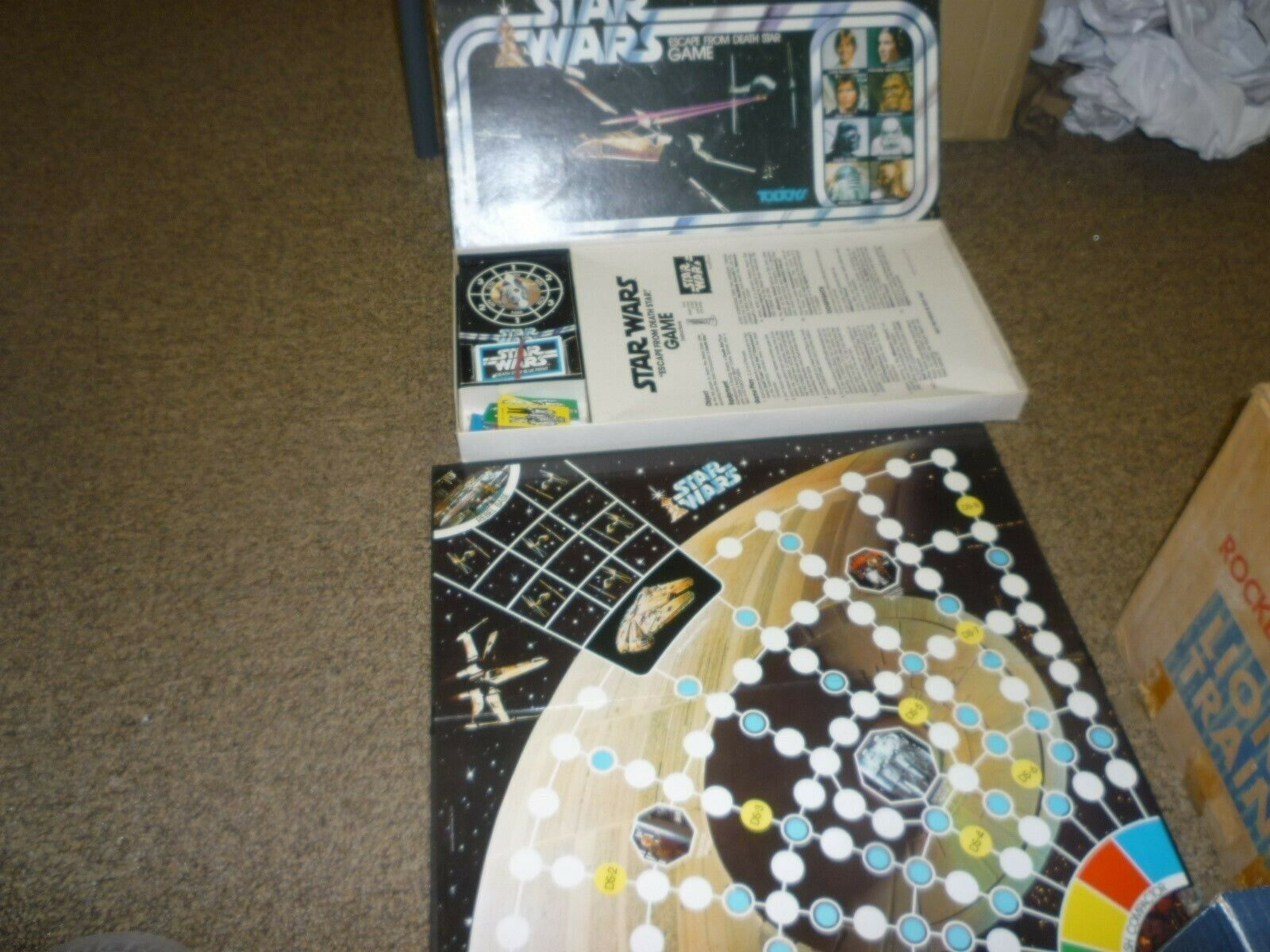 Vintage Star Wars Escape the the the Death Star Board Game Rare Toltoys Version Complete db885d