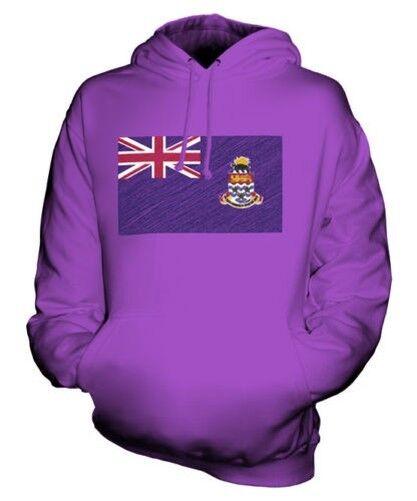 Kaimaninseln Scribble Flag Unisex Kapuzenpulli Top Geschenk Caymanian Fußball