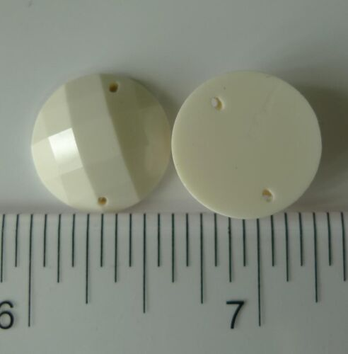 sewing for Button Round Shape Acrylic Stone Flatback plastic stone 16mm 40pcs