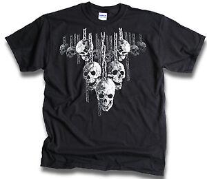 Mens-Skulls-Chains-Hell-Raiser-Biker-T-Shirt-Sm-3XL-Front-or-Rear-Screen-Print