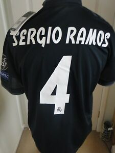 sale retailer 1ec48 57723 Details about ** SERGIO RAMOS **REAL MADRID CHAMPIONS LEAGUE AWAY SHIRT  2018-19 BNWT LARGE