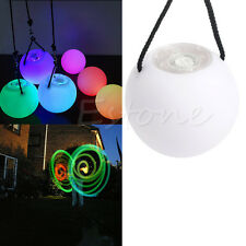 LED Multi-Colored Glow POI Thrown Balls Light Up For Belly Dance Hand Props