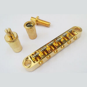 golden roller saddle tune o matic bridge gibson epiphone les paul sg bridge 799648542347 ebay. Black Bedroom Furniture Sets. Home Design Ideas