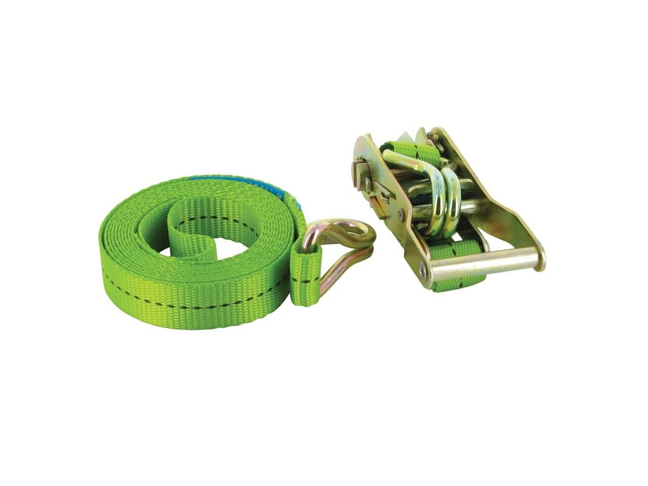 Silverline 493651 Ratchet Tie Down Down Down Strap J-crochet 3 m x 25 mm Rated 350 kg capacité 1 402b3a