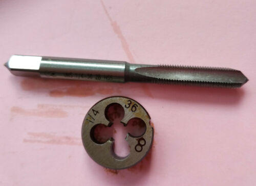 Lots 1pc HSS Machine 1//4-36 UNS Plug Tap and 1pc 1//4-36 UNS Die Threading Tool