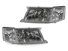 DEPO 1995 1996 1997 LEXUS LS400 JDM STYLE GLASS HEADLIGHTS + CLEAR CORNER LIGHTS