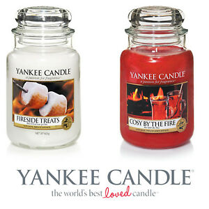 Set-of-2-Yankee-Candle-Large-Jar-22oz-Fireside-Treats-Cosy-By-Fire-150-Burn-Time