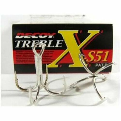 Decoy X-S21 Treble Hook 4 Point Strong hooks Size 1//0 0897