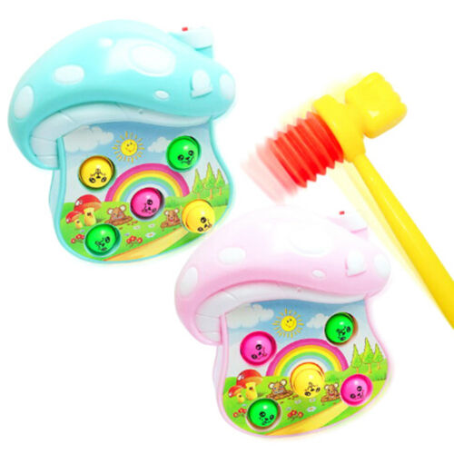 2pcs Plastic kids handle hammer hit hamster toy accessories baby gift toys YH
