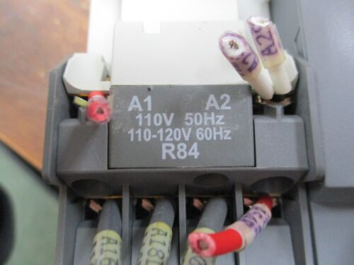 2 Aux Contact Used ABB Reversing Contactor A9-30-01 120V Coil 21A 600V w//