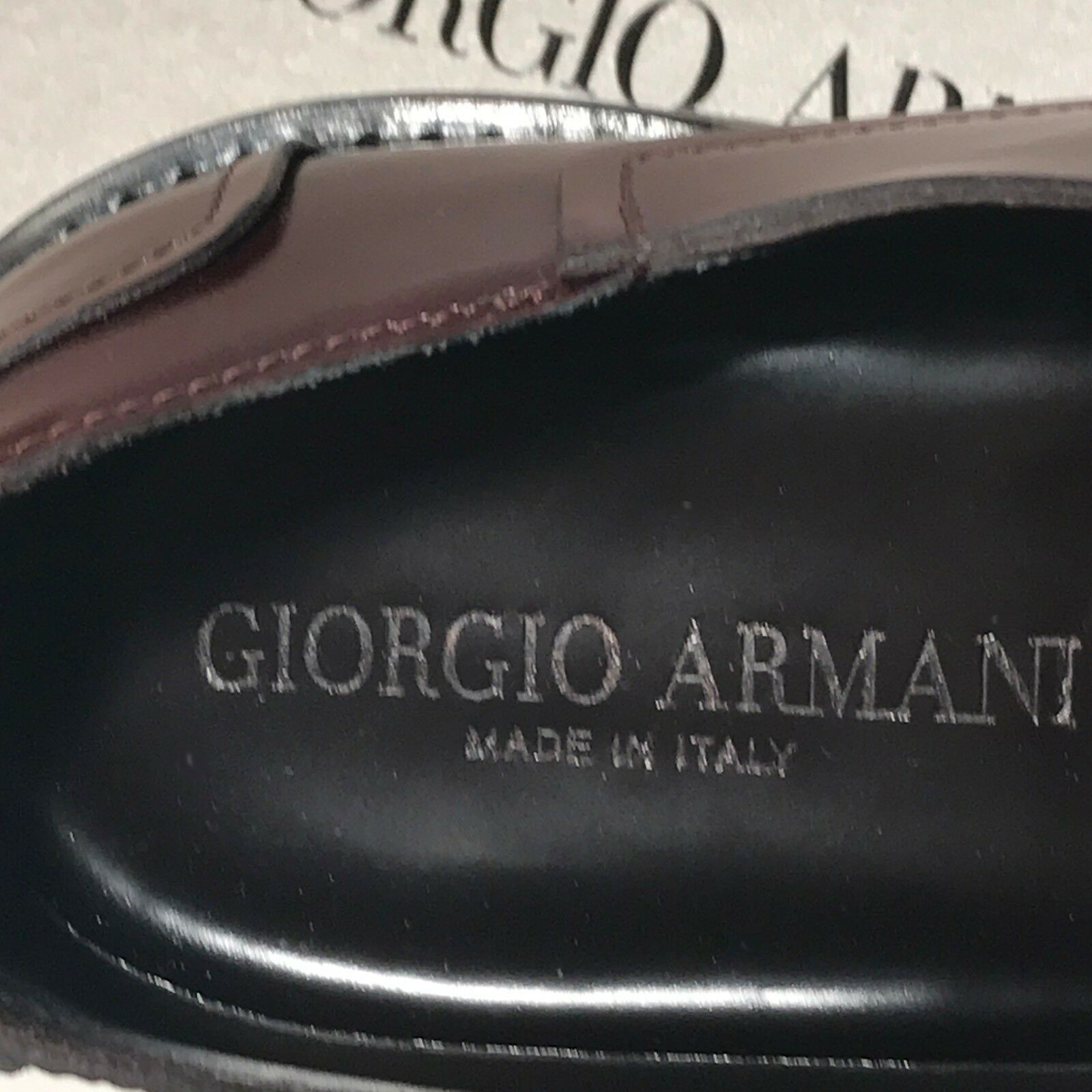 Giorgio Armani Brown Pelle Welted Oxford Dress Derby Fashion Oxford Welted Uomo Shoes X2C348 9a3b4f