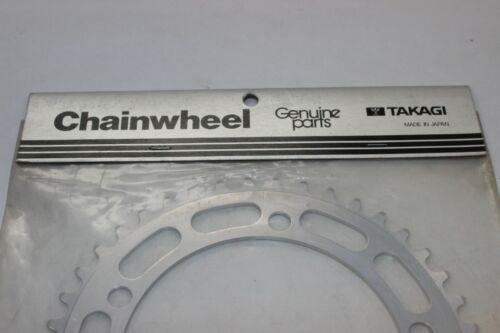 NEW OLD STOCK TAKAGI 43 T Chainwheel argent BMX vintage old school