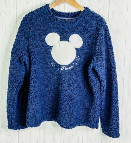 Disney Cozy Sweater Faux Fur Pullover/Crewneck Mic