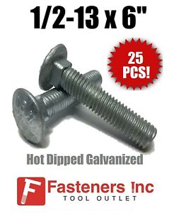 Qty-250 3//8-16 x 3-1//2 FT Carriage Bolt Hot Dipped Galvanized