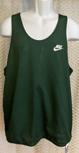 Vintage Nike Green White Reversible Mesh Tank Top