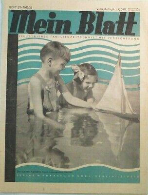 Mein Blatt Heft 21 1932/33 Illustrierte Familienzeitschrift Mit Versich B-17473