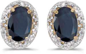 14k-Yellow-Gold-Oval-Sapphire-And-Diamond-Earrings-CM-E2615X-09