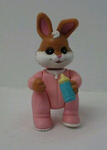 Fisher-Price-Pink-Baby-Bunny-Rabbit-Loving-Family-Hideaway-Hollow-Dollhouse