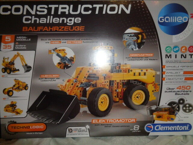 Galileo Construction Baufahrzeuge 5 Modelle  Clementoni 59030.8 ab 8 Jahre OVP