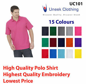 Personalised-custom-embroidered-polo-shirts-Name-company-Logo-15-Colours