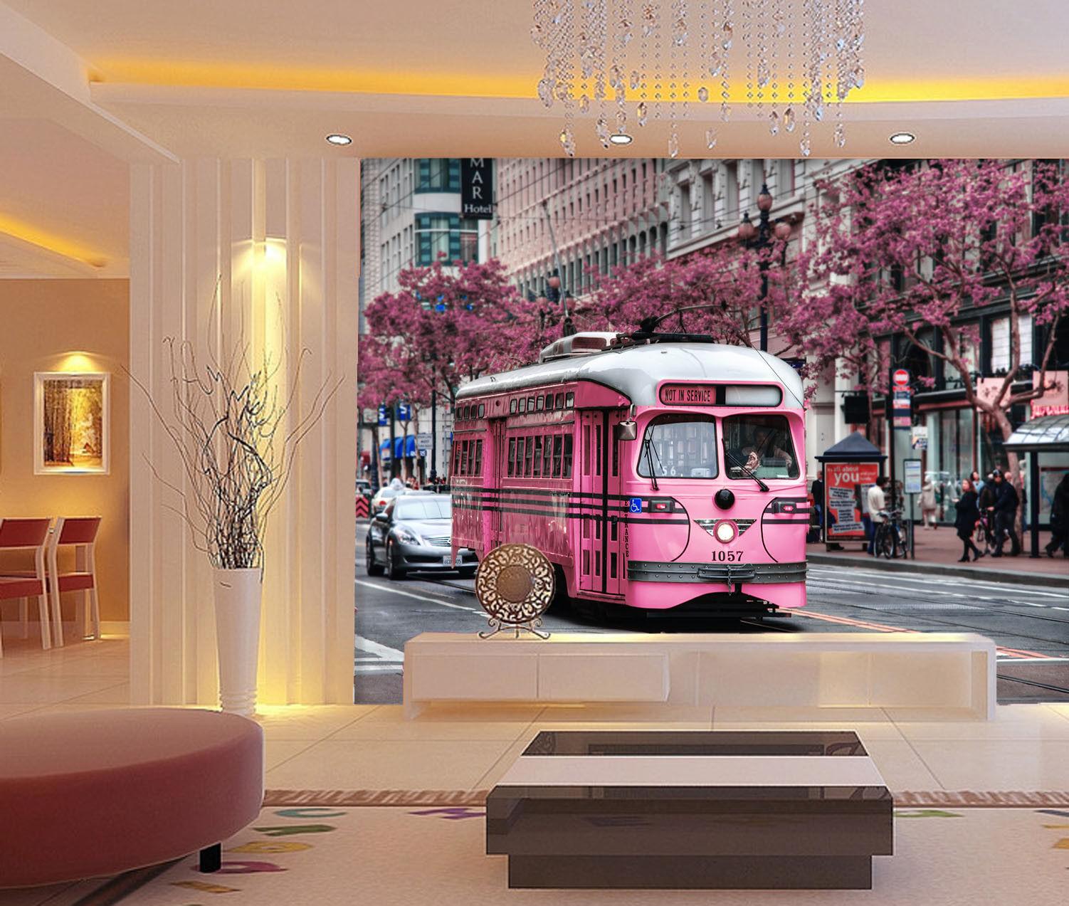 3D Rosa Rosa Rosa Straßenbahn Baum 907 Tapete Wandgemälde Tapete Tapeten Bild Familie DE | Fierce Kaufen  | Ausgezeichnet  | Genial  330490