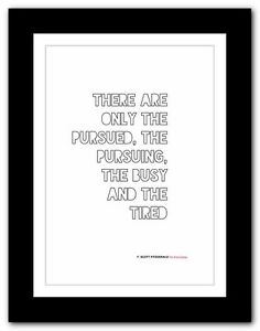 F Scott Fitzgerald The Great Gatsby Typography Book Quote Poster Art Print 26 Ebay