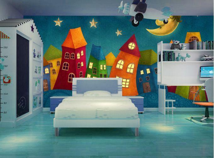 3D Luna, casa 166 Parete Murale Foto Carta da parati immagine sfondo muro stampa