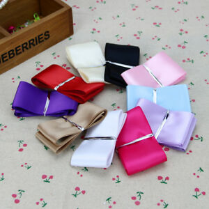 EE-LC-5-YARDS-50MM-WIDE-SATIN-RIBBON-HAIR-BOW-HAND-CRAFT-SEWING-PARTY-SUPPLIES