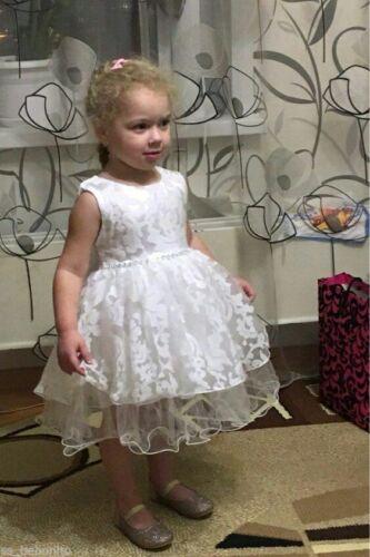 Lucy Bautizo Del Bebé Flores Niña Vestido Formal Dama De Honor Boda Cumpleaños Regalo