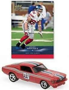 New-York-Giants-Jeremy-Shockey-Ford-Mustang-1-64-Diecast-Car-amp-Trading-Card