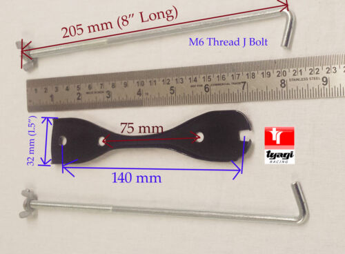 Batterie haltefassung 75mm 145mm Halter Bolzen Tie unten Klammer Kit Auto-Boot