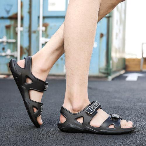 Mens Sandals Open Toe Beach Sports Slippers Flats Casual Shoes Summer Flip Flops