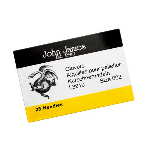 John James Size 2 Glover Leather Needles 44mm Pack of 25 R79//8