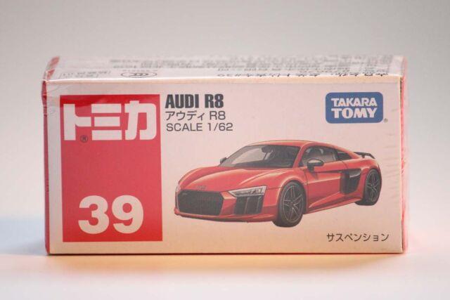Takara Tomy Tomica Nr 38 Audi R8 1//62 Mini-Druckgussauto