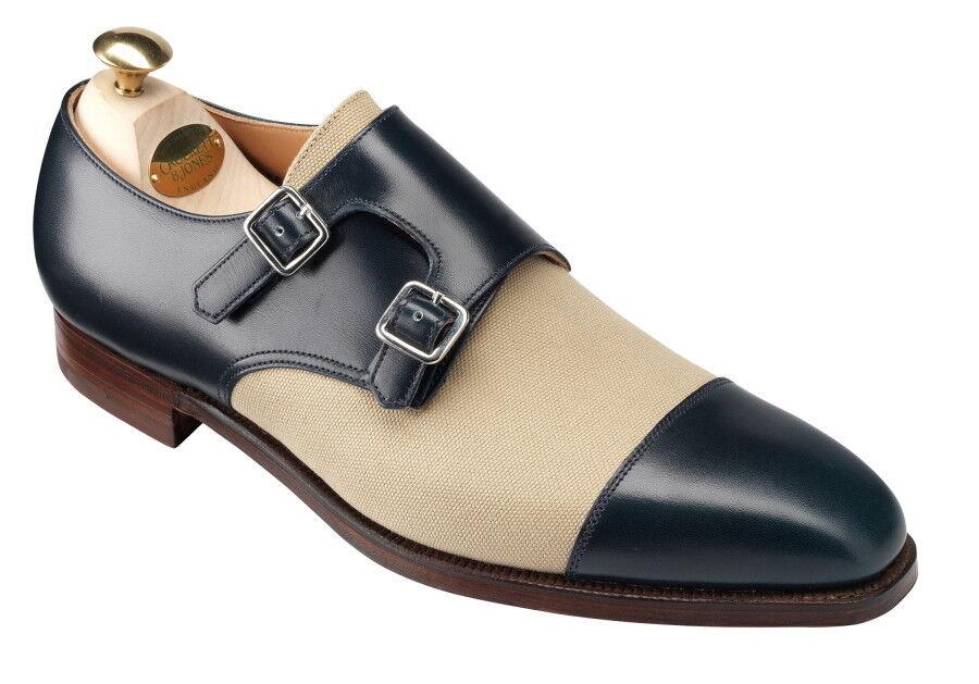 Zapatos De Vestir hecho a Mano Cuero dos tonos monje Correas Para Hombres Personalizado Para Hombres