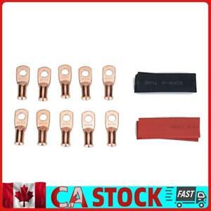 8 AWG Heavy Duty Copper Battery Cable Lug + Heat Shrink Tube Assortment Kit