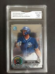 2018-Bowman-Chrome-Fernado-Tatis-Jr-Top-100-RC-GMA-10-Padres-BTP10-PSA-BGS-SGC