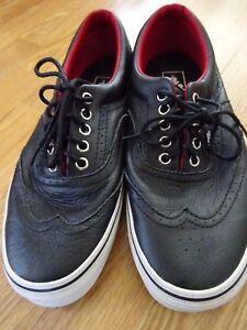 49cf1c49a5cf8e VANS Era Wingtip Black Leather Shoes US 8 Men s Women s 9.5