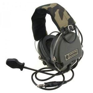 AIRSOFT-TOMTAC-SORDIN-HEADSET-MIC-BOOM-RADIO-MSA-DESIGN-WOODLAND-OD-GREEN