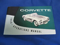 Corvette Owners Manual, 1960 New.